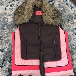 Juice Couture Puff Vest with Removable Fur